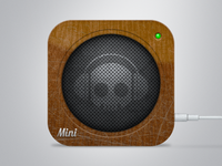 Seen Better Days: Wood Speaker Icon
