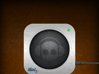 Mini2 speaker icon brushed metal full view
