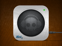 Seen Better Days: Brushed Metal Speaker Icon