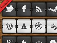 Flip Clock Social Icons
