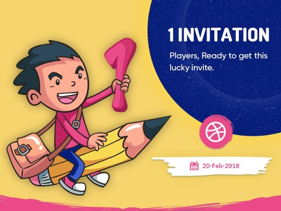 1X Dribbble Invite dribbbleinvites invite invitation