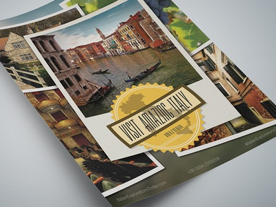 Travel Agency Flyer Template - Visit Italy!