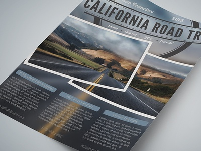 Travel Agency Flyer Template - Road Trip!