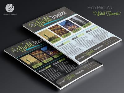 Free Print Ad / Flyer - World Traveler