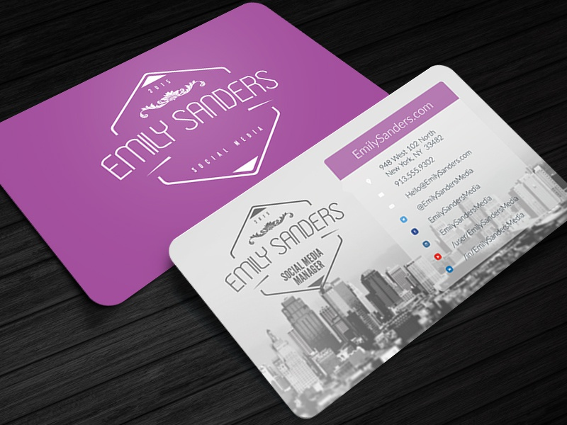 Social Box - Social Media Business Card Template social media business card template photoshop psd twitter facebook instagram youtube vintage badges