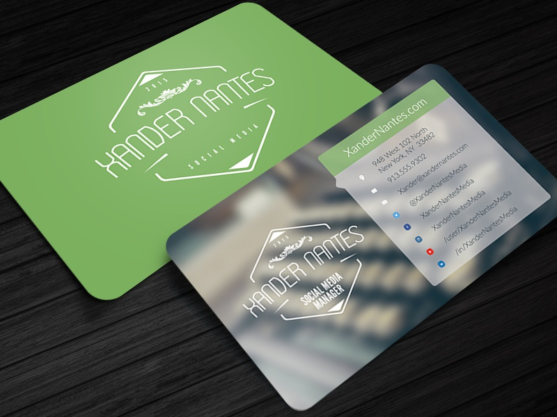 social media on business cards