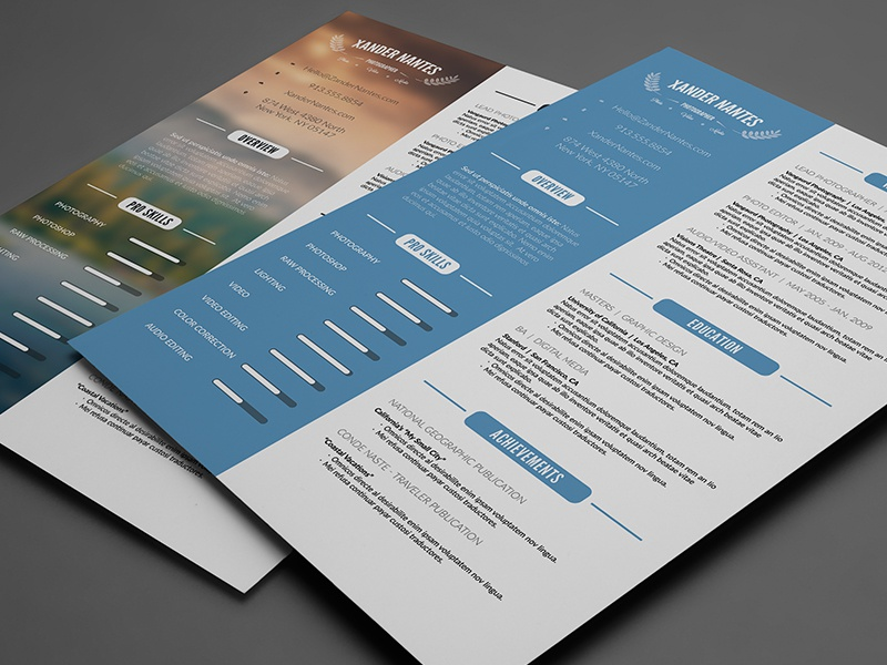 Clean resume photoshop psd template by cursive q designs dribbble yelopaper