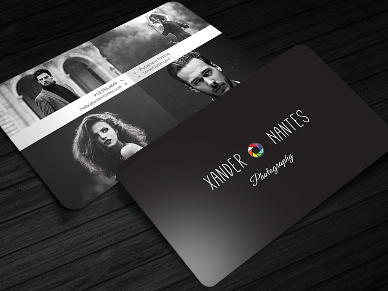 QuadPix Photographer Business Card Template By Cursive Q Designs - Photography business cards templates for photoshop