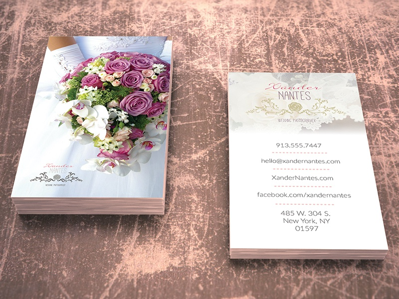 Wedding Photographer Business Card v1 - Photoshop PSD Template by ...