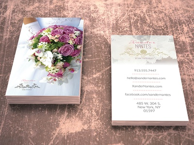 wedding photographer business card v1 photoshop psd template by