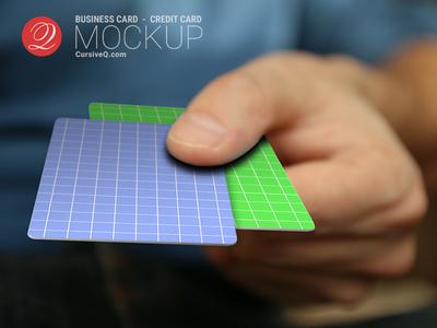 Free Business Card / Credit Card / Gift Card Hand Mockup