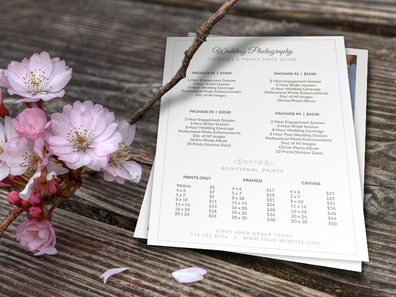 Weddingphotographer Pricelist 5x7 V2 Cursiveq Preview1