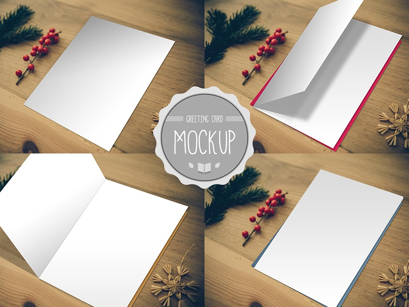 Greeting Card Mockup Psd Templates By Cursive Q Designs