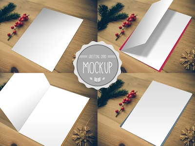Greeting Card Mockup PSD Templates