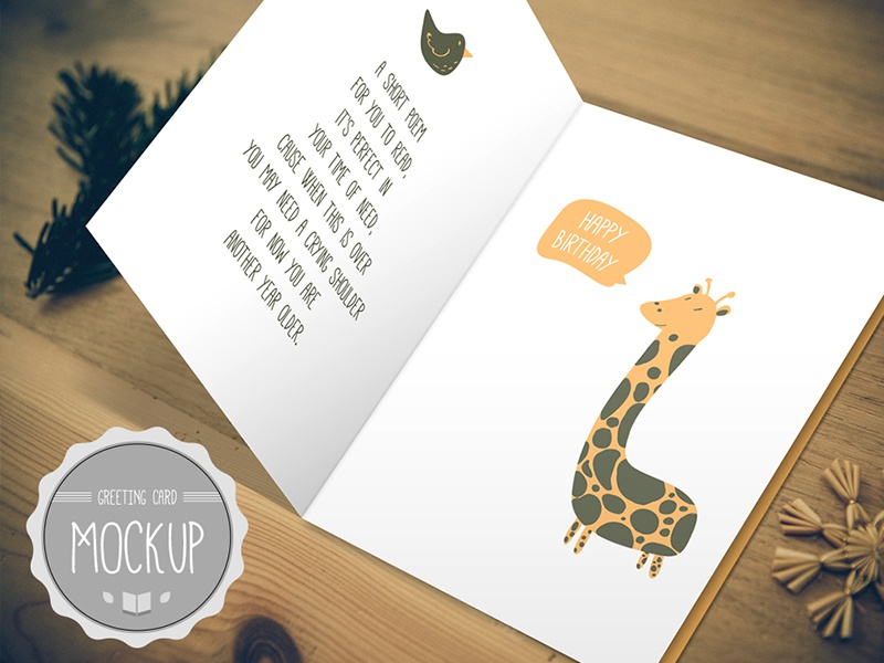 Terrific Greeting Card Mockup Psd Templates2 By Cursive Q Designs Funny Birthday Cards Online Ioscodamsfinfo