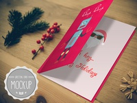 Greeting Card Mockup PSD Templates 3