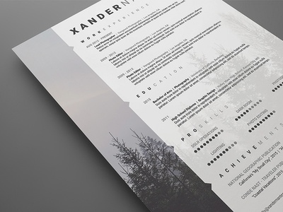 Photographer Resume Template & Photographer Resume Template by Cursive Q Designs - Dribbble