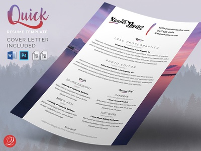 Quick - Resume and Cover Letter Template
