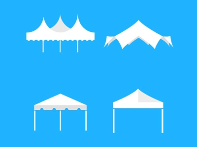 Tent icons small