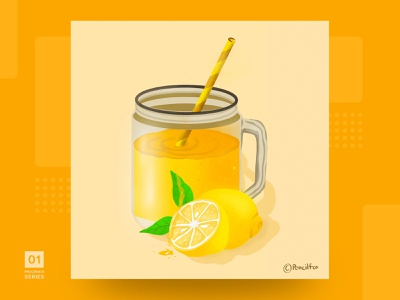Lemonade! digital art digital illustration vectorgraphics art juce digitalpaiting uidesign graphic design gif animation gifanimation graphicsdesign illustration lemon ux ui procreateapp illustration art
