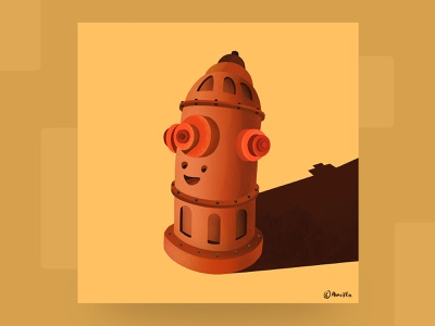 Fire hydrant pencifox branding graphic gif animation animation 2d character concept characterdesign fire fire hydrant procreate art mobile graphics illustration art digital painting digital illustration digital art illustrations design