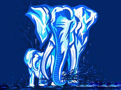 Elephant...! animals illustrated wildlife canvasart canvas painted digital procreate painting art artist illustration art uidesign graphicdesign digitalart digital illustration digital painting illustraion drawing design elephant