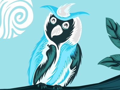 Owl...! ipaddrawing ipad pro procreateapp procreate birds eye dailyui ui design branding art digital painting graphics vector digital art digital illustration illustrations illiustration owl bird