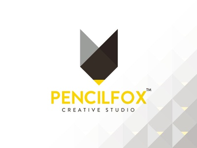 Pencilfox Logo ux ui design fox pencil studio creative mark icon identity brand logo