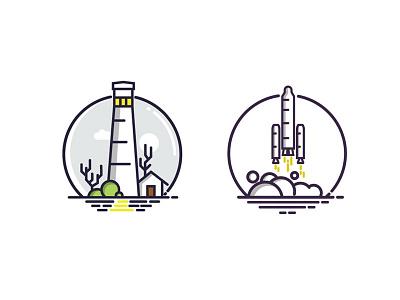 Iconic Illustrations graphics web mobile design illustrations icons