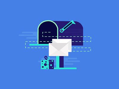 Mail Box website application web mobile graphics ux ui flat design emailer illustartion