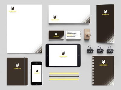 Branding in progress!! design studio pencilfox materials marketing identity corporate branding