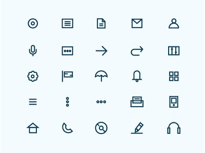 Icon Set interface flat line illustrations app mobile ux ui icon
