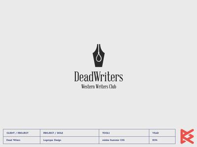 Dead Writers logo club western writers dead