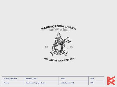 HARDKOROWA RYBKA food logo chips rybka ryba hardcore fish