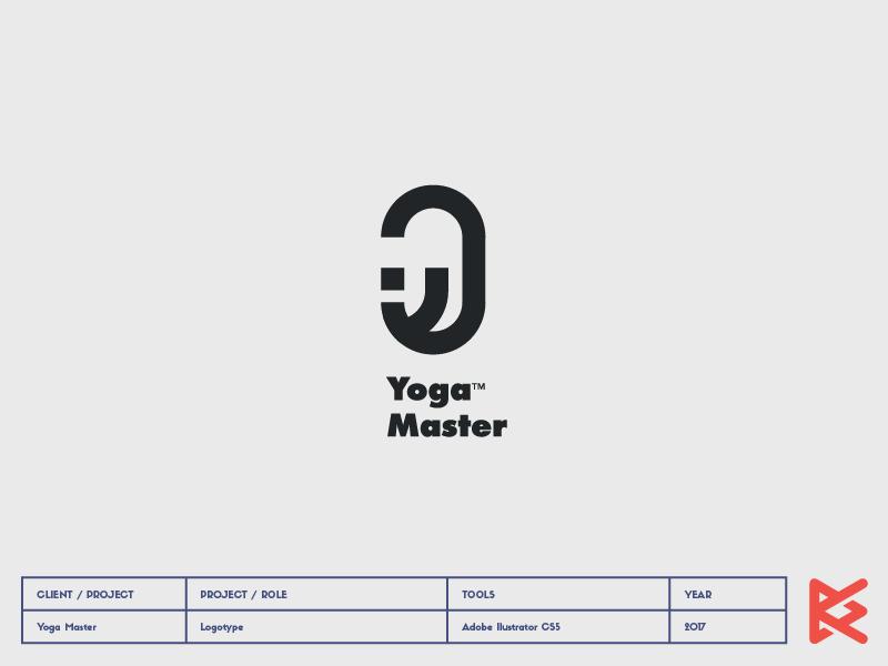 Yoga Master modern branding logo yoga