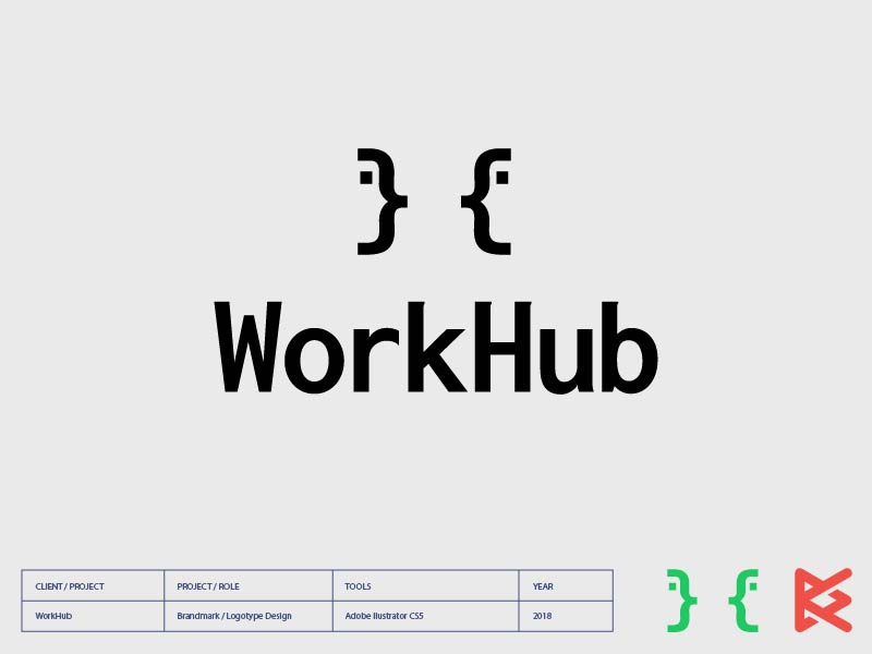 WorkHub code sygnature logo coder