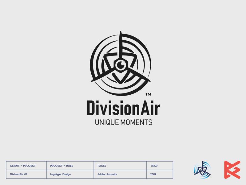 DivisionAir_Logo camera division air division air design drony film buisness logotype logo fly drone