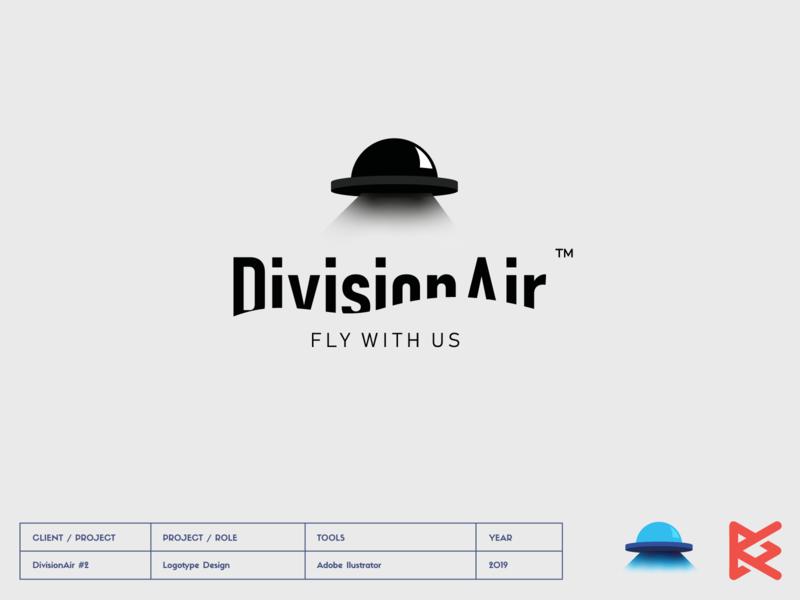 Division Air #2 fly ufo vector symbol design logotype drone logo