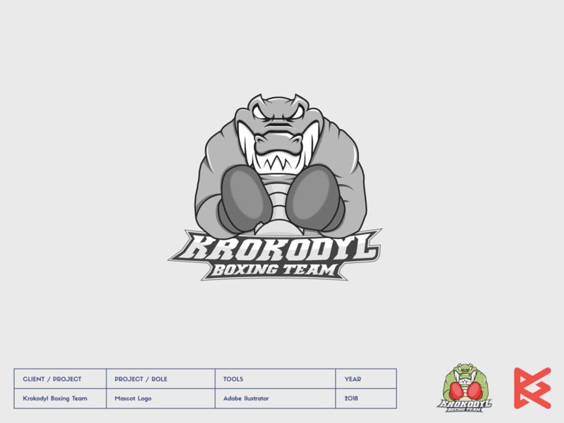 krokodyl fight fighter boxing croco crocodile ilustration mascot logo