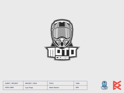 MOTO CREW motocross cross logo mascot crew moto