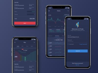 Stock Trading Mobile App (UI Design)