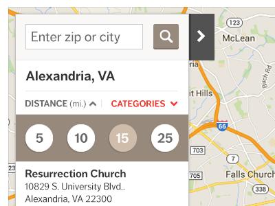Map UI Design