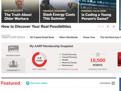 Early AARP Redesign Exploration exploration homepage redesign