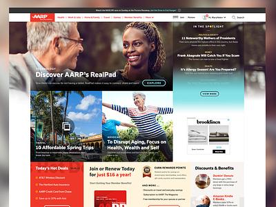 AARPe Homepage Concept portal landing homepage aarp