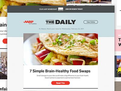 AARPe Newsletter Concept marketing email newsletter