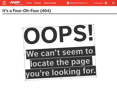 AARPe 404 Concept 404