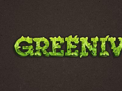 Green Logo typography logo identity