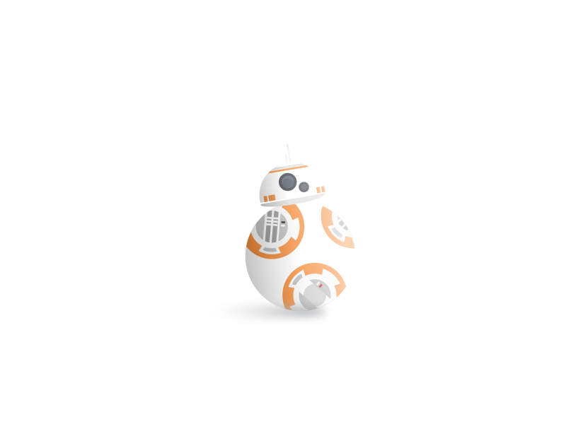 first shot ft. bb-8 star wars droid bb-8 debut