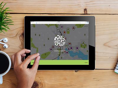 Pop the Bubble interactive postcards explore interactive map icons identity app mica baltimore