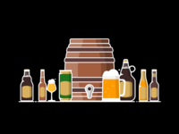 Craft Beer Icon Set